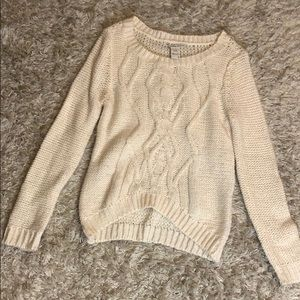 Wide Neck Cable knit sweater